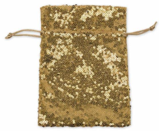 Pailletten-Säckchen gold, 130x100 mm - geschenkverpackung, geschenk-saeckchen