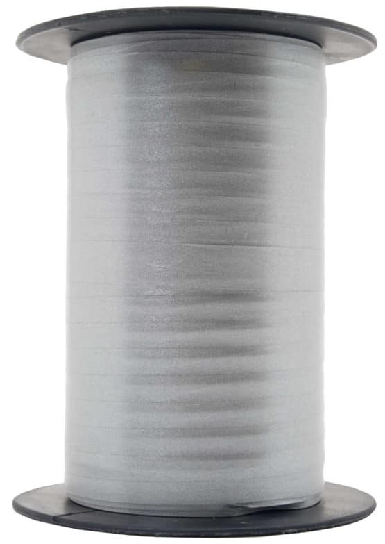 Papermat Kräuselband, grau, 10 mm breit - polyband, geschenkband