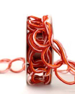 Papierdrahtgirlande rot-orange-rosa, 40 mm - gitterband, andere-baender