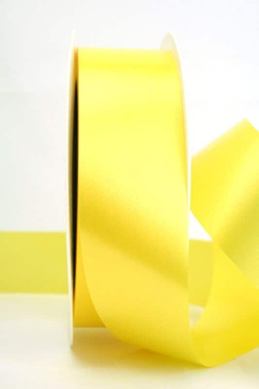 Wetterfestes Schleifenband gelb, 40 mm - polyband, outdoor-bander
