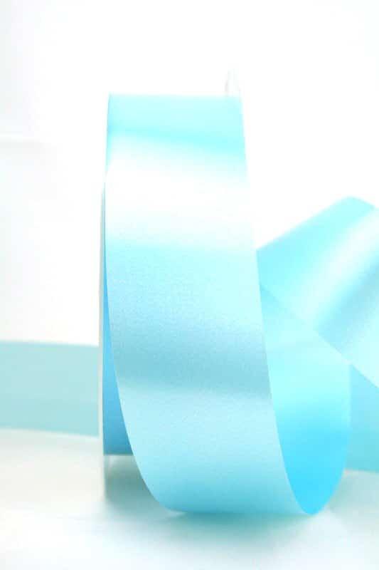 Wetterfestes Schleifenband hellblau, 40 mm - polyband, outdoor-bander