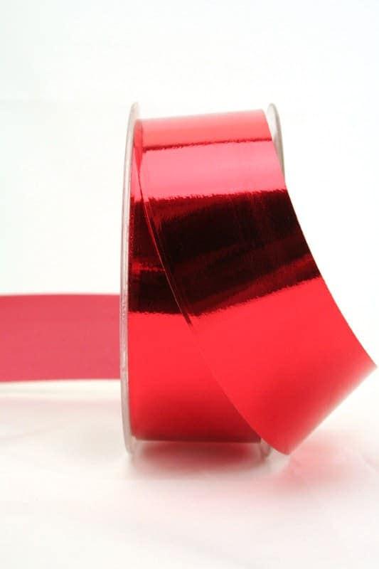 Wetterfestes Schleifenband rot metallic, 40 mm - weihnachtsband, polyband, outdoor-bander, geschenkband-weihnachten