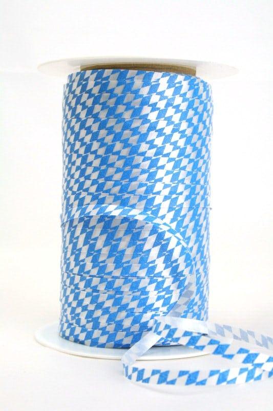 Poly-Ringelband 5 mm, weiß-blau Bayernraute - polyband, outdoor-bander, oktoberfest, nationalband, anlasse