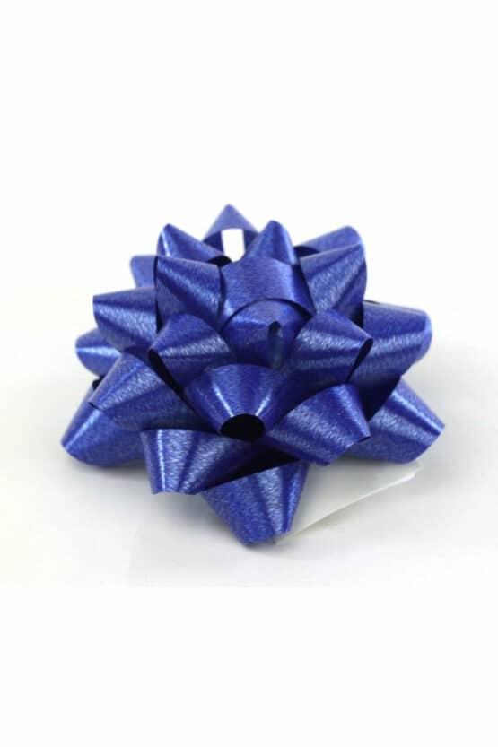 Polyband-Rosette, dunkelblau, 60 mm groß, 25 Stück - polyband, fertigschleifen