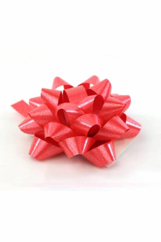 Polyband-Rosette, rot, 60 mm groß, 25 Stück - polyband, fertigschleifen