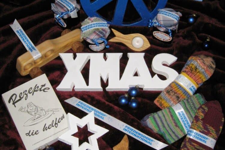 FRIEDENSDORF INTERNATIONAL auf Weihnachtsmärkten in Oberhausen und Duisburg - personaliserte-bander, geschenkverpackungen