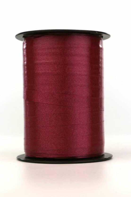 Polyband / Kräuselband, bordeaux, 10 mm breit - polyband