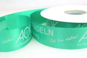 Polypropylen-Schleifenband mit personalisiertem Aufdruck - Firmenlogo