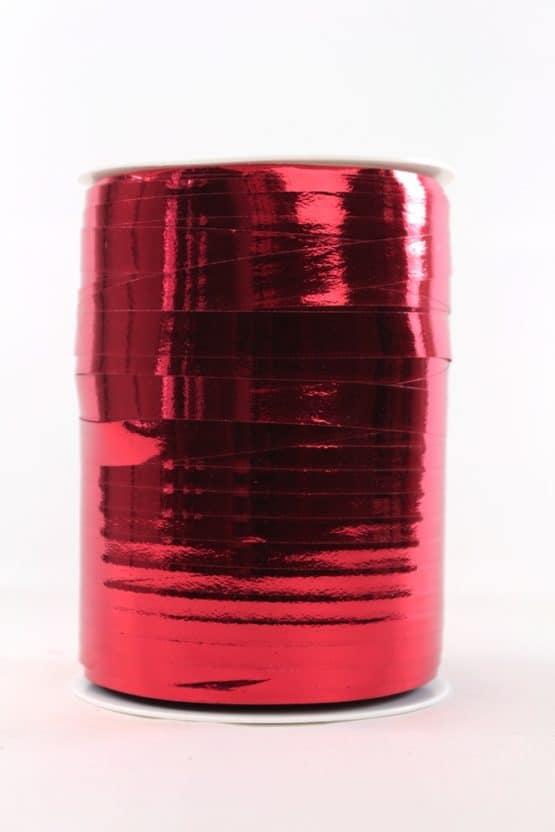 Polyringelband (Kräuselband) rot metallic, 10 mm - weihnachtsband, polyband, geschenkband-weihnachten-dauersortiment, geschenkband-weihnachten