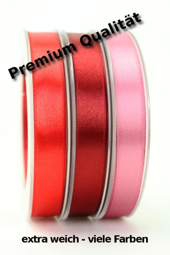 Premium Doppelsatinband 15 mm, extra weich - satinband, satinband-dauersortiment, premium-qualitaet, dauersortiment