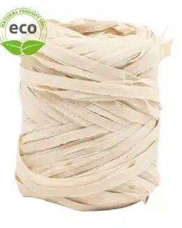 Natur-Raffia, creme, 10 mm breit, ECO - raffia, polyband, kompostierbare-geschenkbaender, geschenkband, eco-baender, bastband
