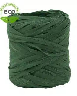 Natur-Raffia, dunkelgrün, 10 mm breit, ECO - raffia, polyband, kompostierbare-geschenkbaender, geschenkband, eco-baender, bastband
