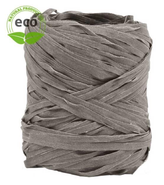 Natur-Raffia, grau, 10 mm breit, ECO - raffia, polyband, kompostierbare-geschenkbaender, geschenkband, eco-baender, bastband