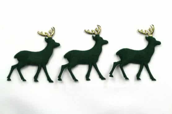 Rehe in Wildlederoptik, tannengrün, 52 mm, 20 Stück - accessoires