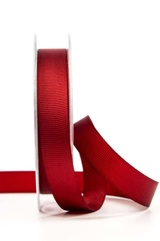 Ripsband, bordeaux, 15 mm breit - geschenkband, geschenkband-einfarbig