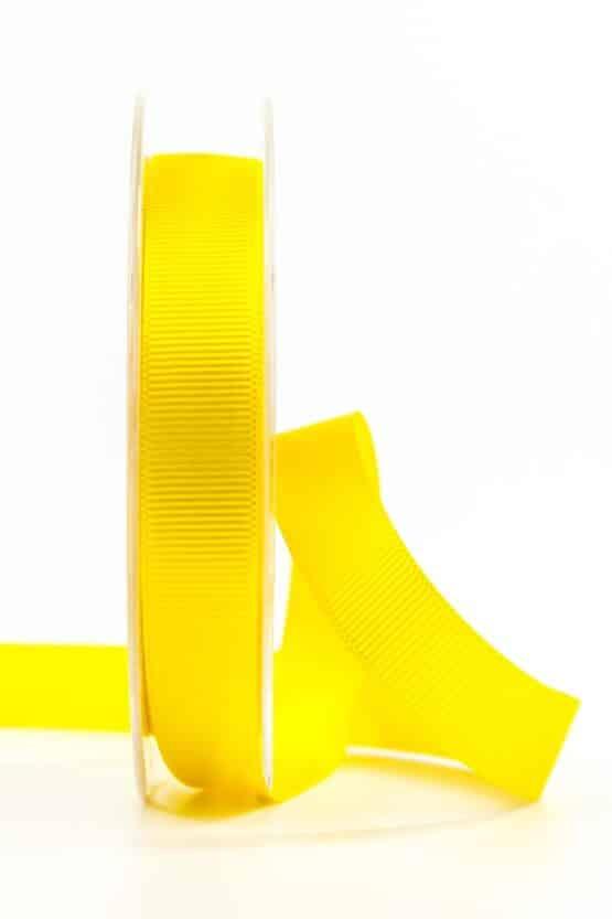 Ripsband, gelb, 15 mm breit - geschenkband, geschenkband-einfarbig