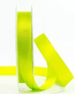 Ripsband, apfelgrün, 15 mm breit - geschenkband, geschenkband-einfarbig