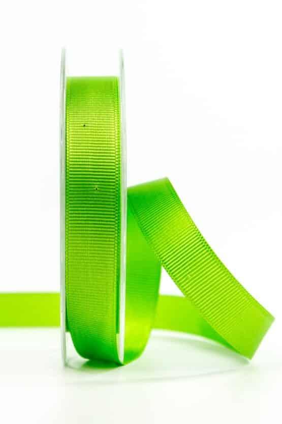 Ripsband, grasgrün, 15 mm breit - geschenkband, geschenkband-einfarbig