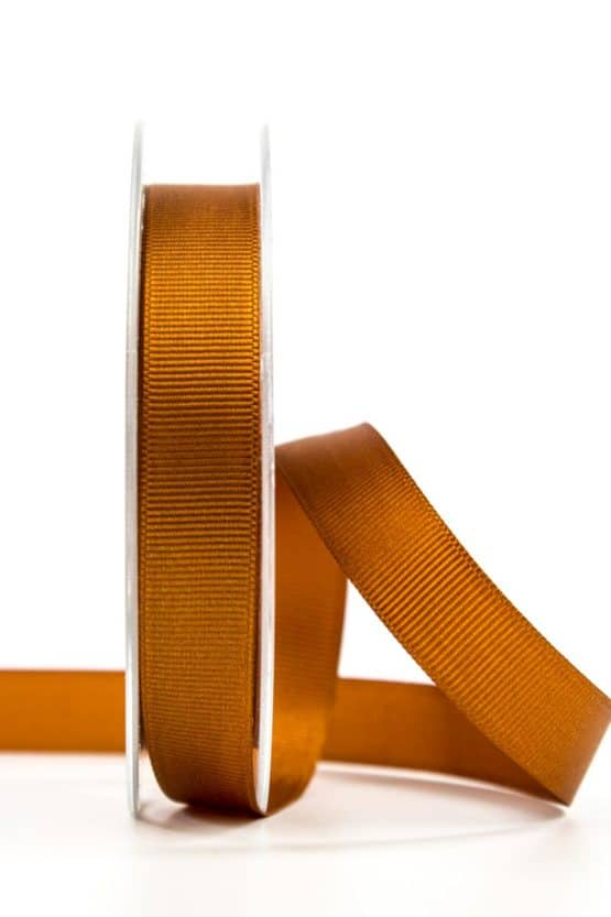 Ripsband, cognac, 15 mm breit - geschenkband, geschenkband-einfarbig
