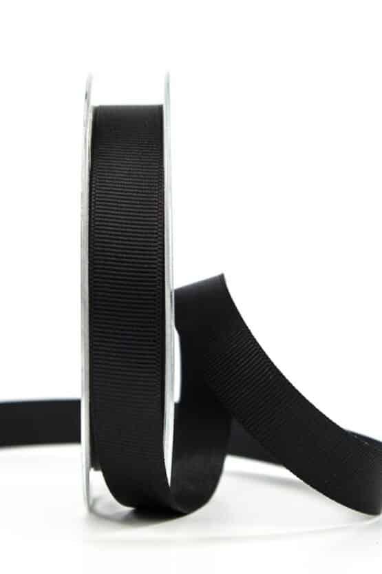 Ripsband, schwarz, 15 mm breit - geschenkband, geschenkband-einfarbig