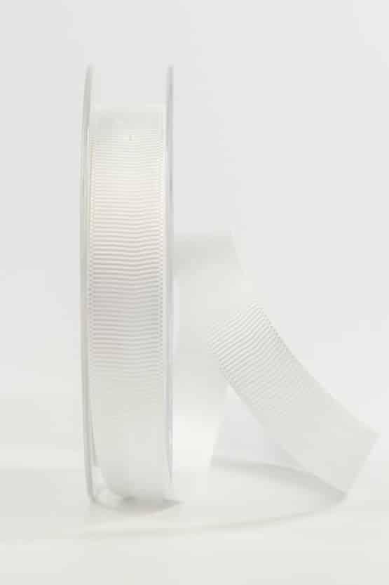 Ripsband, weiß, 15 mm breit - geschenkband, geschenkband-einfarbig