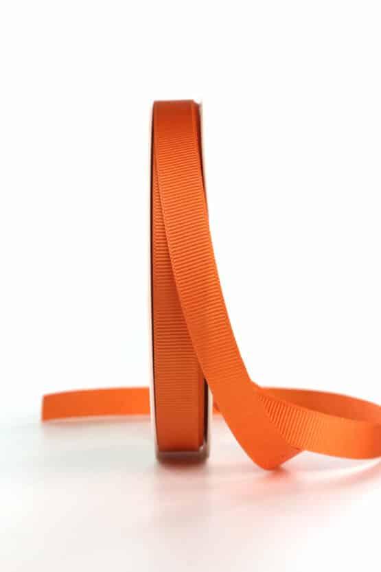 Ripsband, orange, 15 mm breit - geschenkband, geschenkband-einfarbig