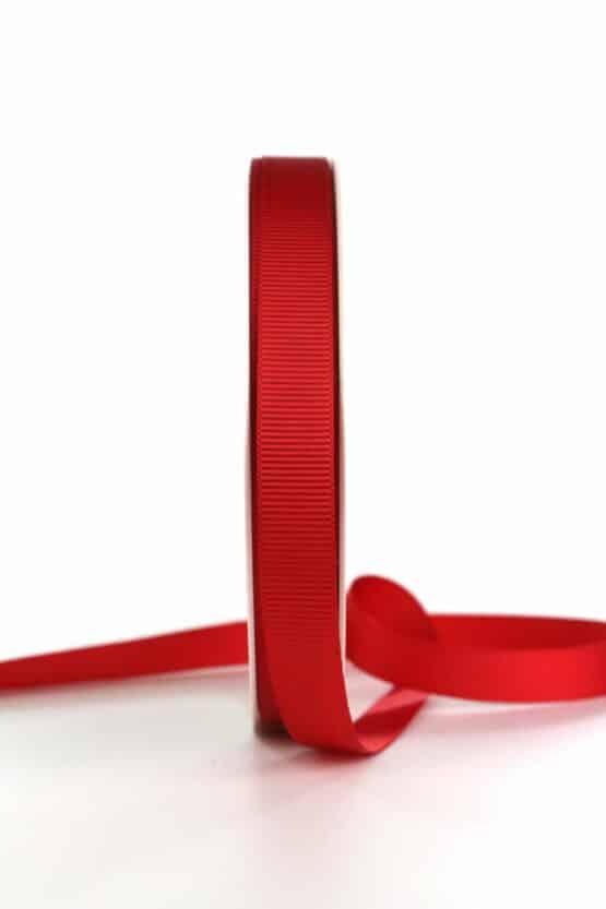Ripsband, rot, 15 mm breit - geschenkband, geschenkband-einfarbig