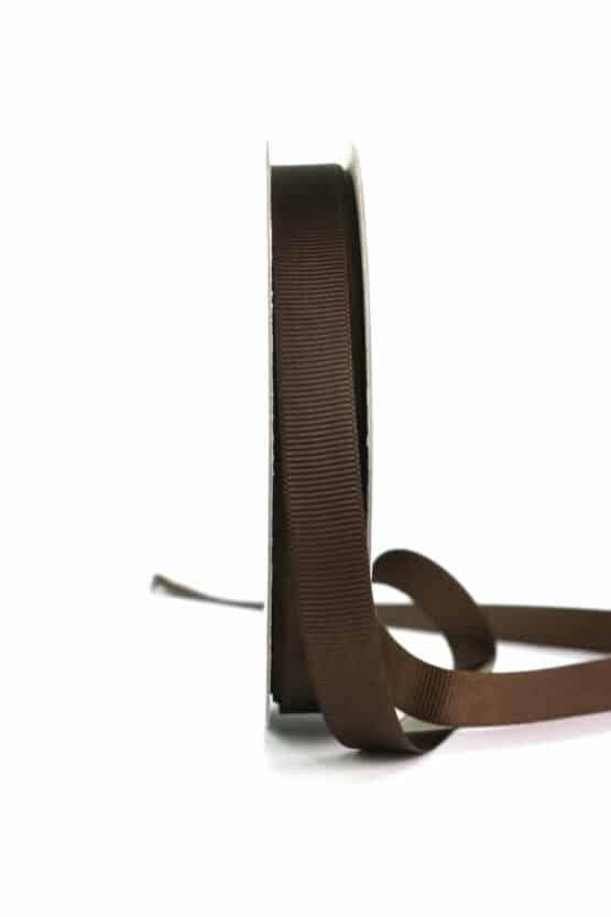 Ripsband, schokobraun, 15 mm breit - geschenkband, geschenkband-einfarbig