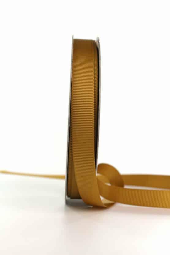 Ripsband, senfgelb, 15 mm breit - geschenkband, geschenkband-einfarbig