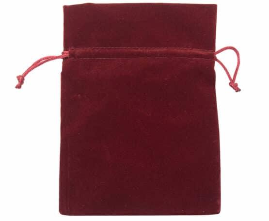 Samt-Säckchen bordeaux, 130x100 mm - geschenkverpackung, geschenk-saeckchen