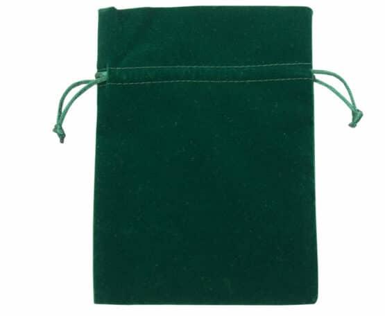 Samt-Säckchen moosgrün, 180x130 mm - geschenkverpackung, geschenk-saeckchen