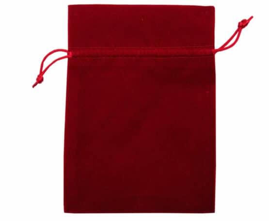 Samt-Säckchen rot, 130x100 mm - geschenkverpackung, geschenk-saeckchen