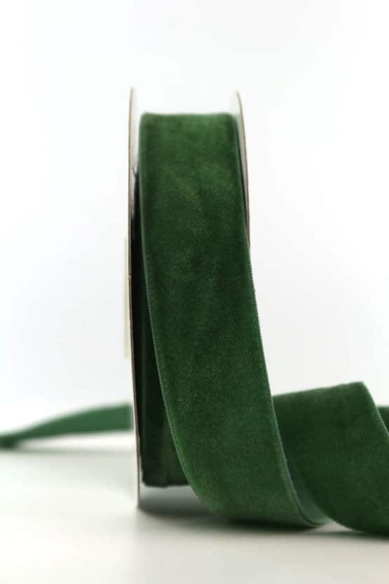 Samtband dunkelgrün, 25 mm - samtband, geschenkband, dekoband