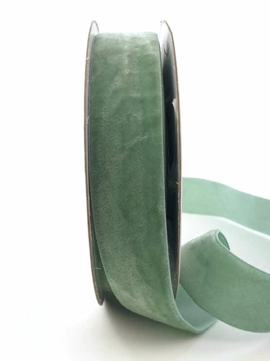 Samtband eisgrün, 25 mm - samtband, geschenkband, dekoband