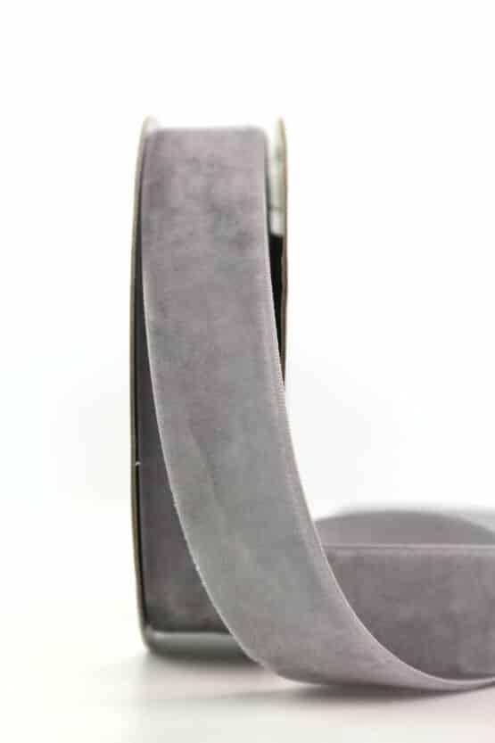 Samtband grau, 25 mm - samtband, geschenkband, dekoband