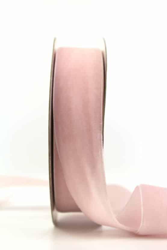 Samtband rosa, 25 mm - samtband, geschenkband, geschenkband-einfarbig, dekoband