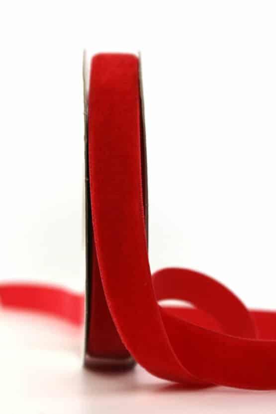 Samtband rot, 15 mm - samtband, geschenkband, dekoband