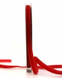 Samtband rot, 7 mm - samtband, geschenkband, dekoband