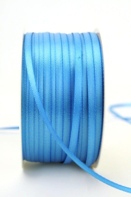 Satinband 3mm, uni aqua - sonderangebot, satinband, satinband-budget