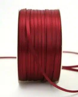 Satinband 3mm, uni bordeaux - sonderangebot, satinband, satinband-budget