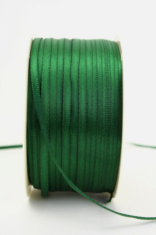 Satinband 3mm, uni dunkelgrün - sonderangebot, satinband, satinband-budget