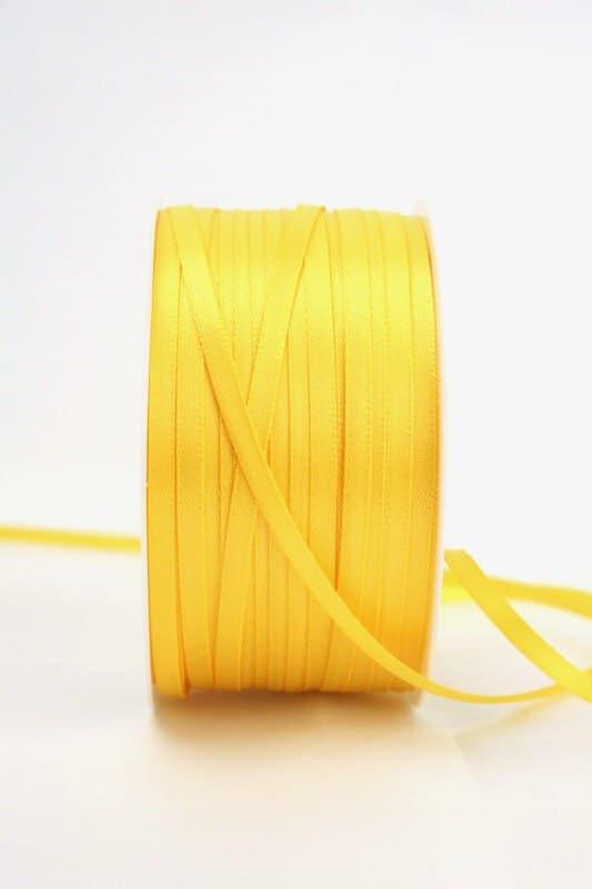 Satinband 3mm, uni gelb - sonderangebot, satinband, satinband-budget