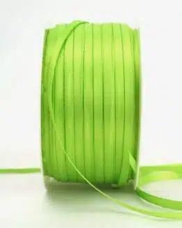 Satinband 3mm, uni hellgrün - satinband-budget, sonderangebot, satinband
