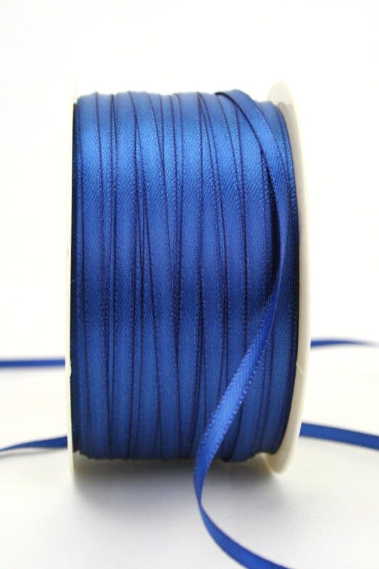 Satinband 3mm, uni königsblau - sonderangebot, satinband, satinband-budget