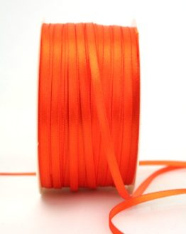 Satinband 3mm, uni orange - sonderangebot, satinband, satinband-budget