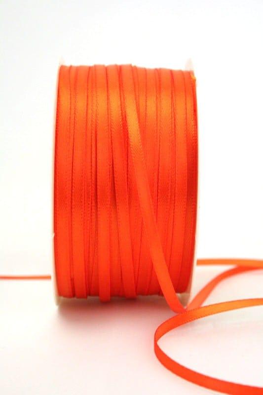 Satinband 3mm, uni orange - sonderangebot, satinband, satinband-budget