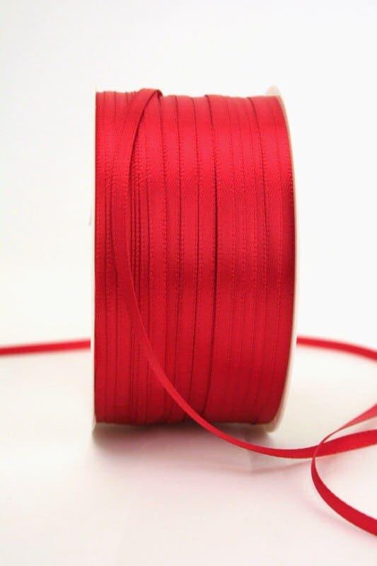 Satinband 3mm, uni rot - sonderangebot, satinband, satinband-budget