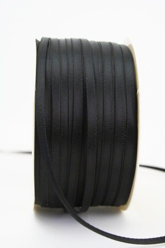 Satinband 3mm, uni schwarz - sonderangebot, satinband, satinband-budget