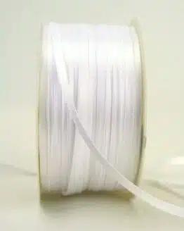 Satinband 3mm, uni weiß - sonderangebot, satinband, satinband-budget