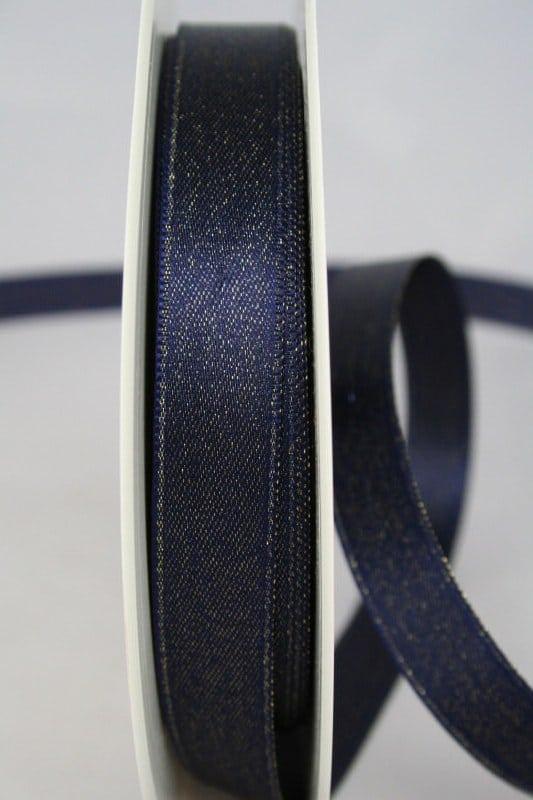 Schimmerndes Satinband blau-gold, 15 mm breit - satinband, geschenkband-weihnachten
